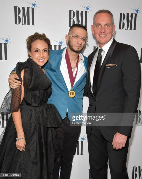 BMI Vice President of Latin Music Delia Orjuela Brasa and BMI President Chief Executive Officer Mike O'Neill attend the 26th Annual BMI Latin Awards...