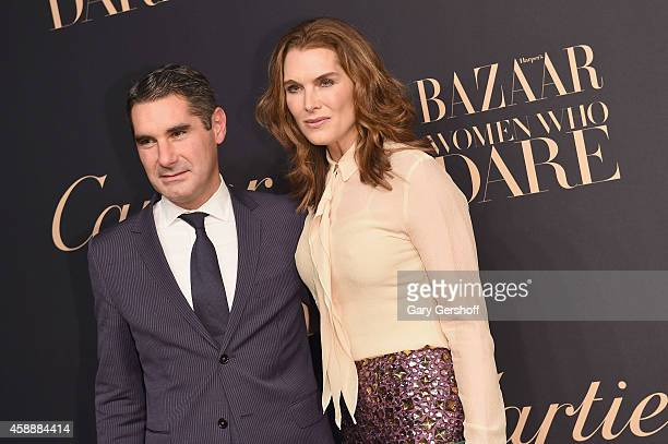 Vice President of Marketing and Communications Cartier North America Hugues de Pins and actress Brooke Shields attend a dinner celebrating Women Who...