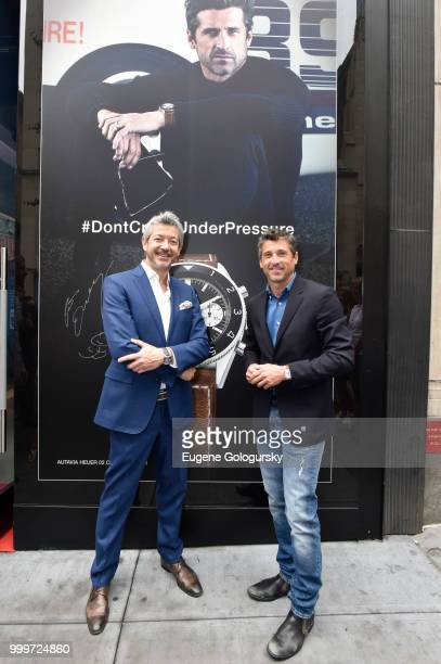 Heuer Brand Ambassador Patrick Dempsey attends the TAG Heuer Celebration New York City EPrix And TAG Heuer Museum In Motion With Patrick Dempseyon...