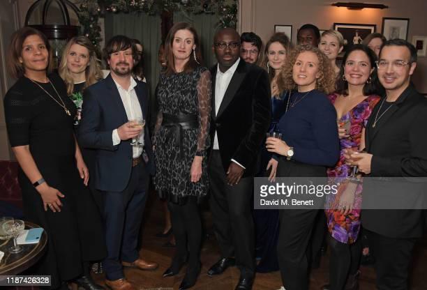 Vice President of NETFLIX Original Series Anne Mensah Chief Executive of BAFTA Amanda Berry and EditorInChief of British Vogue Edward Enninful pose...