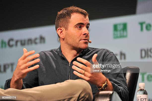 Vice President of Product Management at Facebook Adam Mosseri speaks onstage during TechCrunch Disrupt SF 2016 at Pier 48 on September 14 2016 in San...