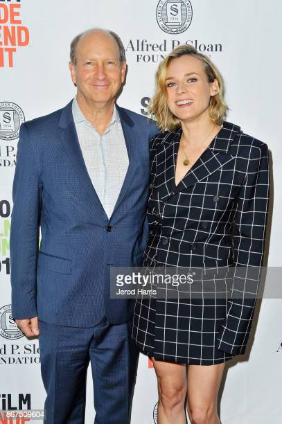 Vice President of Programs at Alfred P Sloan Foundation Doron Weber and actress Diane Kruger attend Sloan Film Summit 2017 Day 1 at Regal Cinemas LA...