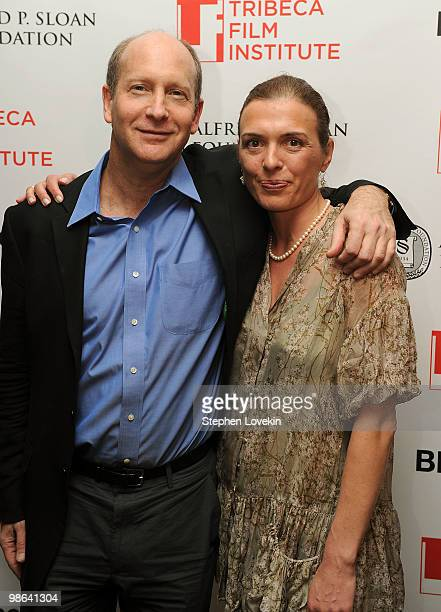 Vice President of Programs at the Sloan Foundation Doron Weber and writer/director Diane Bell attend the TFI Awards Ceremony during the 2010 Tribeca...