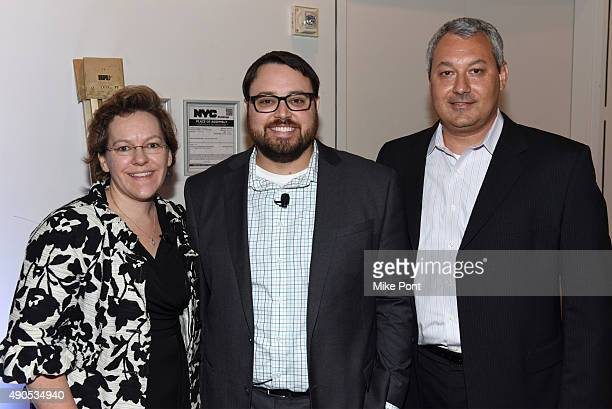 ABC Vice President of Research Lisa Helmann ABC Director of Research Brian West and ABC VP of Sales Development and Marketing Brian Gerber pose at...