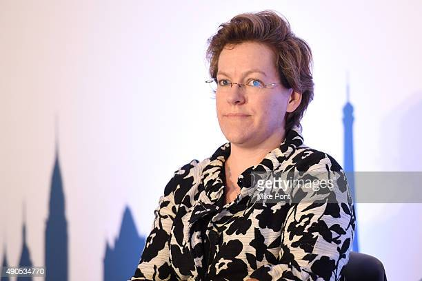 Vice President of Research Lisa Helmann speaks onstage at the Unified Insights Understand the Future of TV Today panel during Advertising Week 2015...