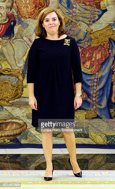 Vice president of Spanish Government Soraya Saenz de Santamaria attends audience at Zarzuela Palace on June 27 2014 in Madrid Spain