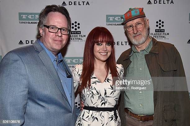 Vice President of Studio Production at TCM Sean Cameron TV host and reporter Alicia Malone and actor James Cromwell attend 'Lassie Come Home' during...