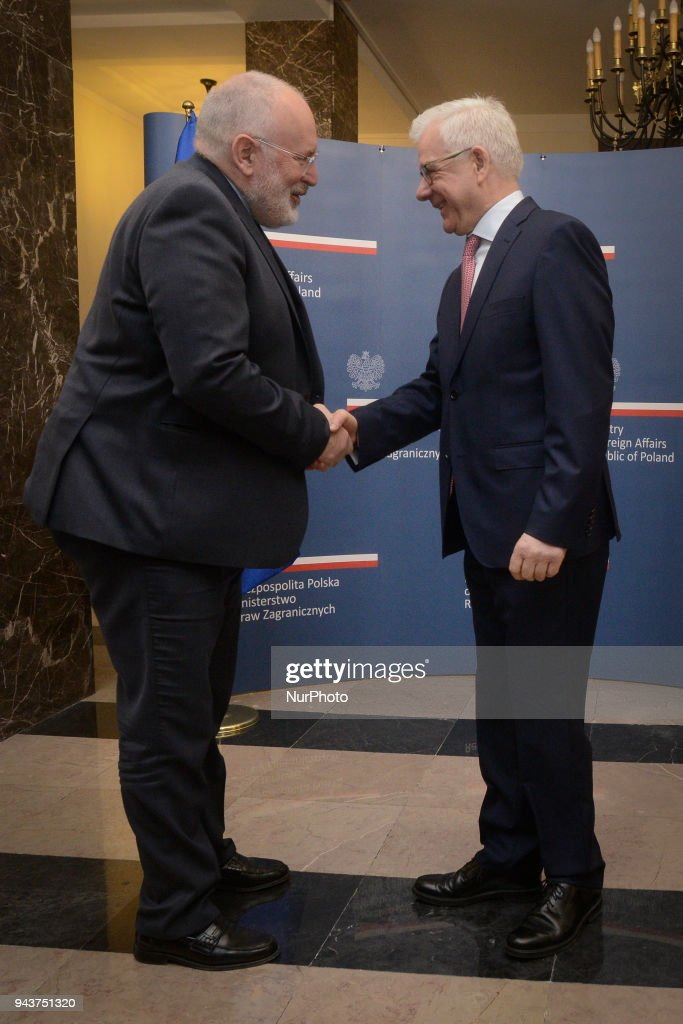 European Commission Vice President Frans Timmermans in Poland : News Photo