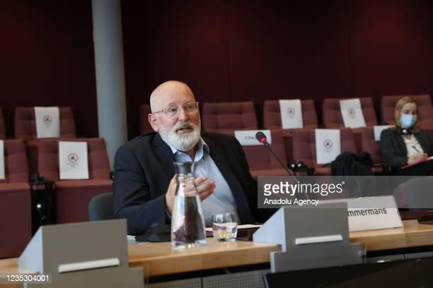Vice president of the European Commission Frans Timmermans, Turkish Environment and Urbanization Minister Murat Kurum , Permanent Representative of...