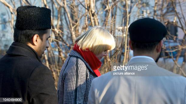 Vice president of the German Bundestag parliament Claudia Roth visits together with the Amir and federal chairman of the Ahmadiyya Muslim community...