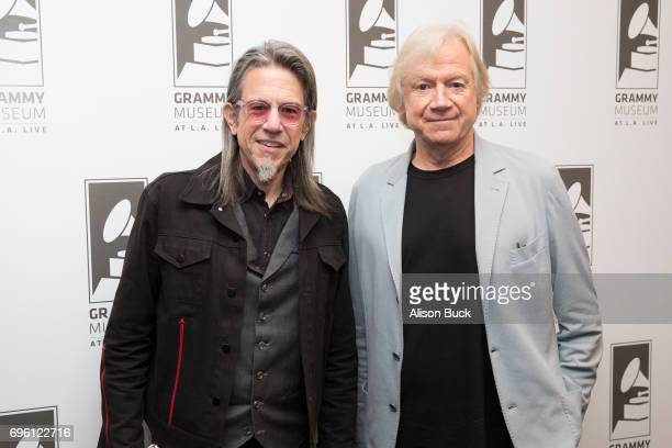 Vice President of The GRAMMY Foundation and MusiCares Scott Goldman and musician Justin Hayward attend An Evening With Justin Hayward at The GRAMMY...