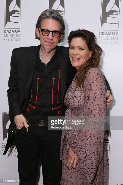 Vice President of the GRAMMY Foundation Scott Goldman and singersongwriter Beth Hart attend The Drop Beth Hart at The GRAMMY Museum on June 3 2015 in...