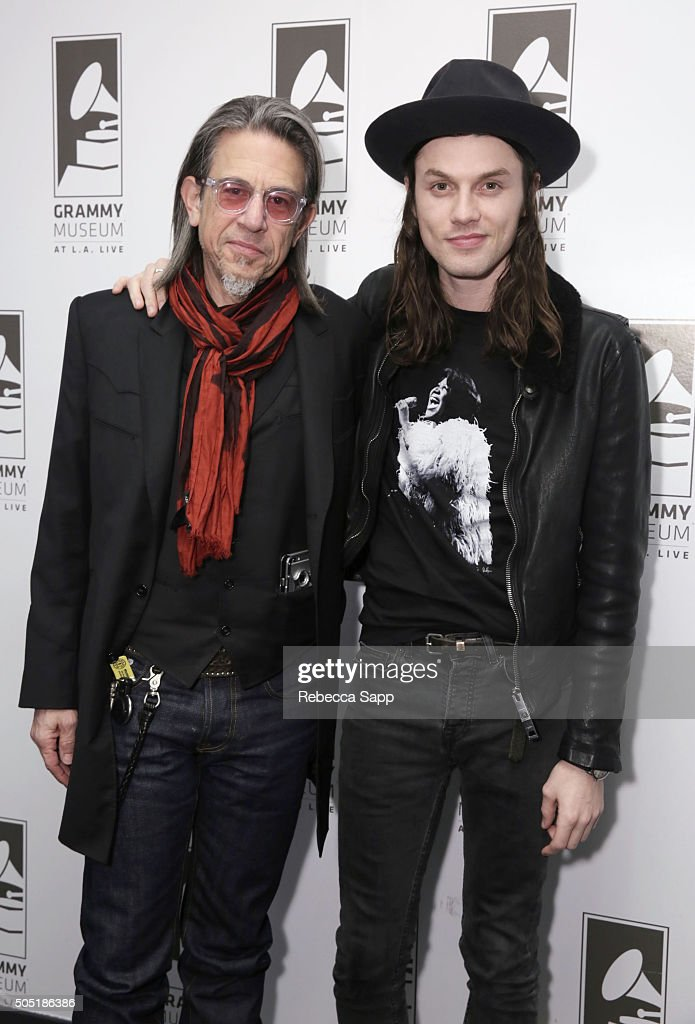 Vice President of the GRAMMY Foundation Scott Goldman and singer/songwriter James Bay at Spotlight: James Bay at The GRAMMY Museum on January 15, 2016 in Los Angeles, California.