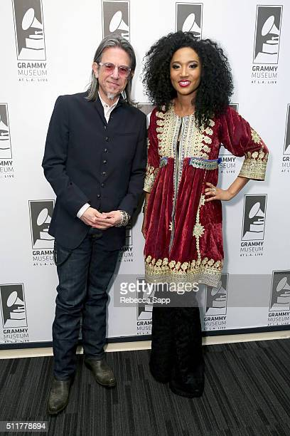 Vice President of the GRAMMY Foundation Scott Goldman and singer/songwriter Judith Hill attend Spotlight Judith Hill at The GRAMMY Museum on February...
