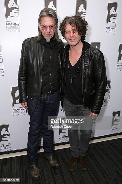 Vice President of the GRAMMY Foundation Scott Goldman and musician Doyle Bramhall II attend An Evening With Doyle Bramhall II at The GRAMMY Museum on...