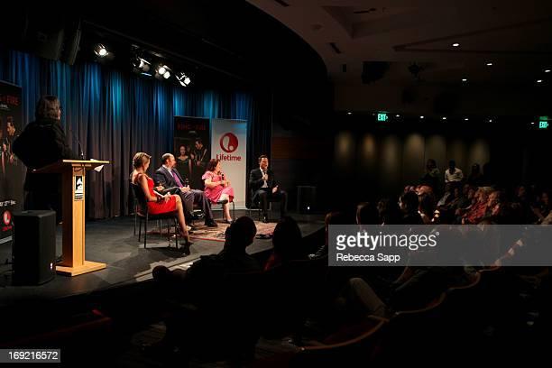 Vice President of the GRAMMY Foundation Scott Goldman, singer Jewel, actor John Doe, writer John Carter Cash, director Allison Anders and executive...