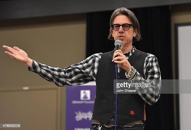 Vice President of the GRAMMY Foundation Scott Goldman speaks at the GRAMMY Camp Nashville Open House in Columbia Studio A on June 5 2015 in Nashville...