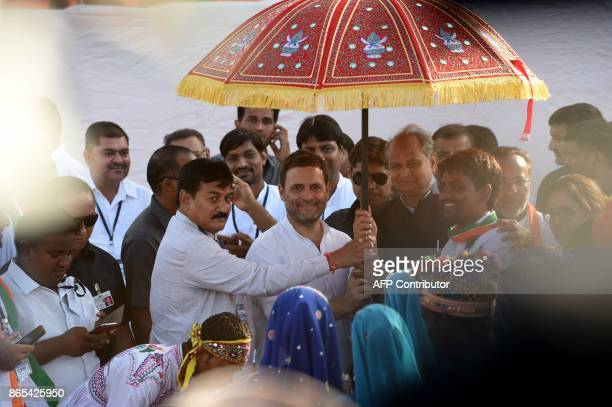 Vice President of the Indian National Congress party Rahul Gandhi and Other Backward Class leader Alpesh Thakor and President of the Gujarat Congress...
