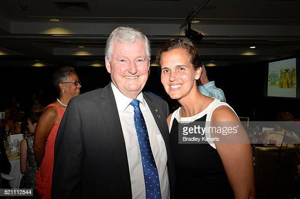 Vice President of the International Tennis Federation Geoff Pollard and USA Fed Cup Captain Mary Joe Fernandez pose for a photo during the Fed Cup...
