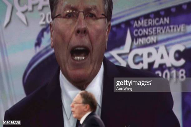 Vice President of the NRA Wayne LaPierre speaks during CPAC 2018 February 22 2018 in National Harbor Maryland The American Conservative Union hosted...