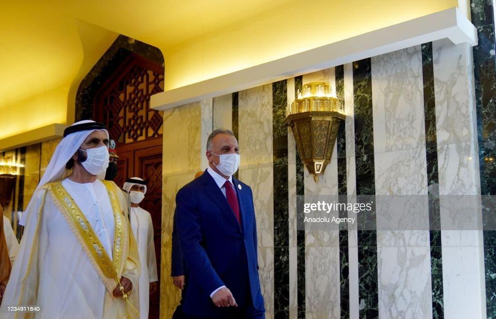 Prime Minister of Kuwait Sabah Al-Khalid Al-Sabah in Baghdad : Nieuwsfoto's