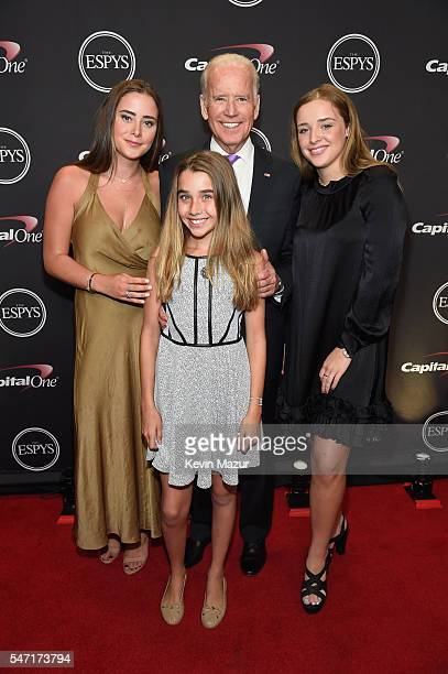 Vice President of the United States Joe Biden and family attend the 2016 ESPYS at Microsoft Theater on July 13, 2016 in Los Angeles, California.