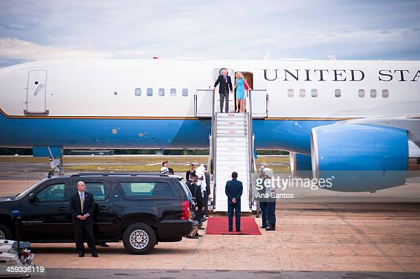 CONTENT] Vice President of the United States Joe Biden and his wife Dr Jill Biden arrive at the Brasília Air Base on Air Force Two and visit the US...