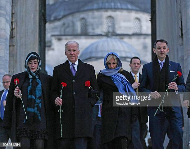 Vice President of the United States Joe Biden his wife Dr Jill Biden his granddaughter Naomi Biden and his son in law Howard Krein visit historical...