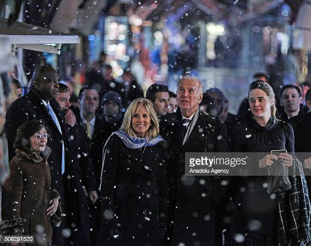 Vice President of the United States Joe Biden his wife Dr Jill Biden and his granddaughter Naomi Biden visit Arasta Bazaar at Sultan Ahmed in...