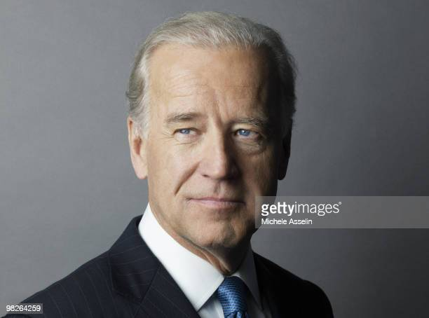 Vice president of the United States Joe Biden poses at a portrait session for Arrive magazine in Washington DC on January 1 2010