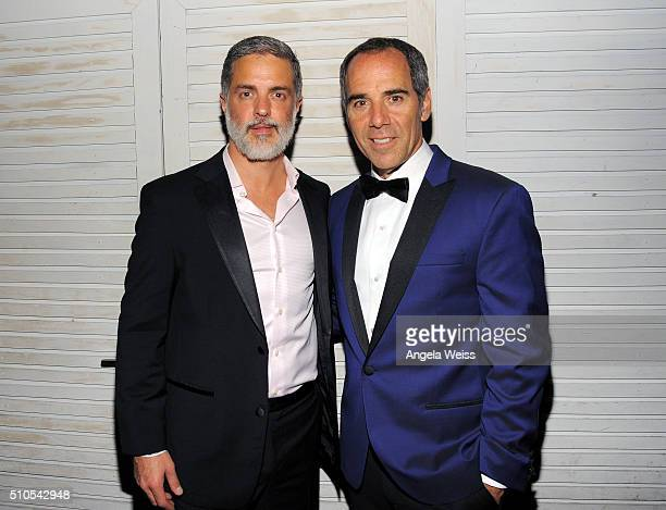 Vice President of Top 40 at Republic Island Records Rob Harvey and CEO of Republic Records Monte Lipman attend the Republic Records Grammy...