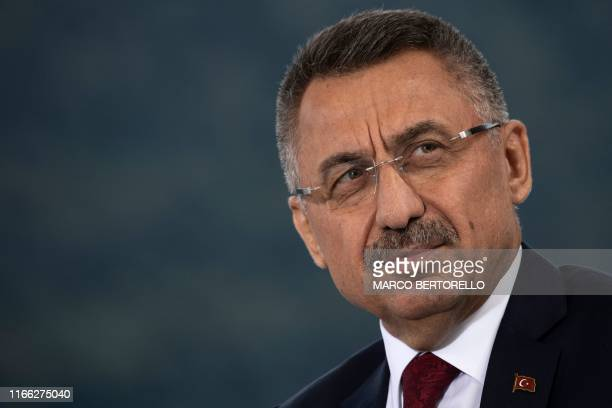 """Vice President of Turkey, Fuat Oktay attends the 45th edition of the annual """"The European House Ambrosetti"""" forum on economy on September 6, 2019 at..."""