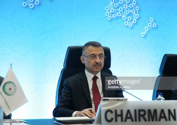Vice President of Turkey Fuat Oktay participates in the closing session of the Standing Committee for Economic and Commercial Cooperation of the...