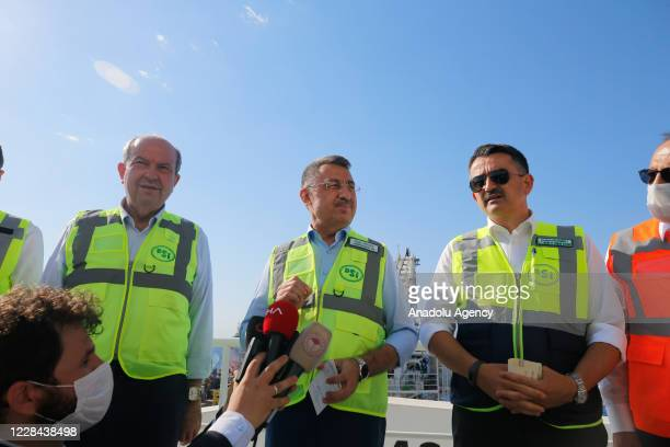 Vice President of Turkey, Fuat Oktay , Turkish Cypriot Prime Minister, Ersin Tatar and Minister of Agriculture and Forestry of Turkey, Bekir...