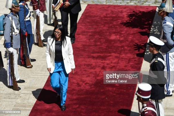 Vice President of Venezuela Delcy Rodriguez arrives to President of Venezuela Nicolas Maduro annual address to the nation at the National Constituent...
