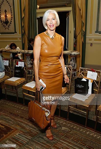 Vice President of Visual Merchandising at Bergdorf Goodman Linda Fargo attends the Michael Bastian fashion show during MercedesBenz Fashion Week...