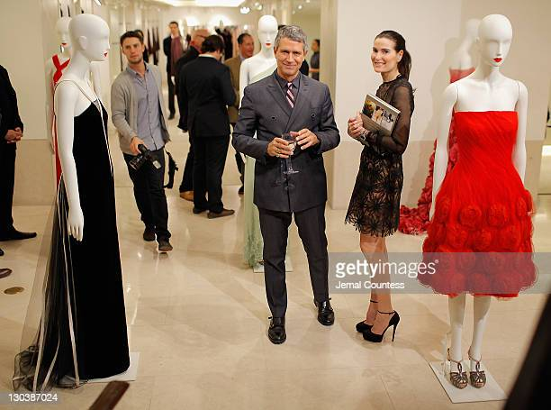 Vice President of Worldwide Public Relations for Valentino Carlos Souza and Jennifer Creel during the 100 Unforgettable Dresses book launch at the...