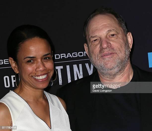 Vice President Original Films at Netflix Pauline Fischer and producer Harvey Weinstein attend the premiere of Netflix's Crouching Tiger Hidden Dragon...