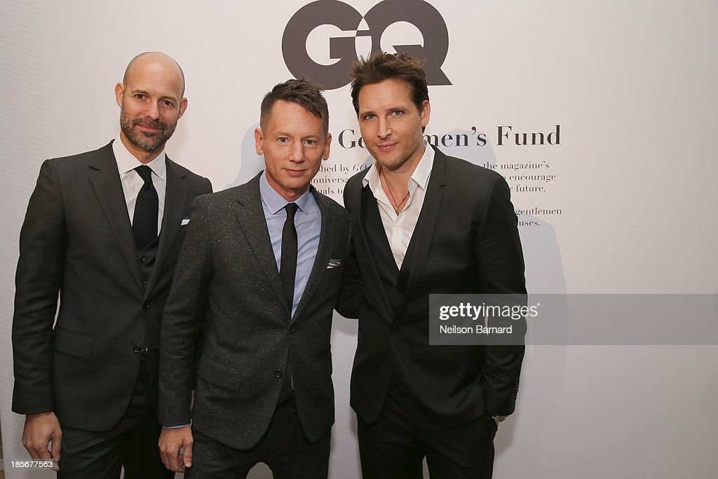 Vice President & Publisher at GQ Chris Mitchell, GQ editor-in-chief Jim Nelson, and actor Peter Facinelli attend the 2013 GQ Gentlemen's Ball presented by BMW i, Movado, and Nautica at IAC Building on October 23, 2013 in New York City.