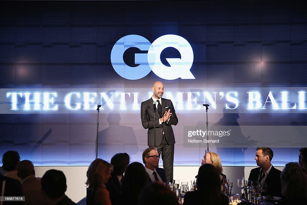 Vice President & Publisher at GQ Chris Mitchell speaks onstage at the 2013 GQ Gentlemen's Ball presented by BMW i, Movado, and Nautica at IAC Building on October 23, 2013 in New York City.
