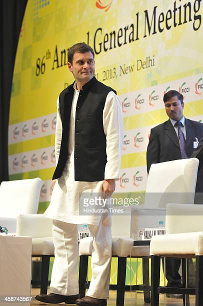 Vice President Rahul Gandhi at the Valedictory Session of FICCIs 86th Annual General Meeting on the India On the Move theme at FICCI Auditorium on...