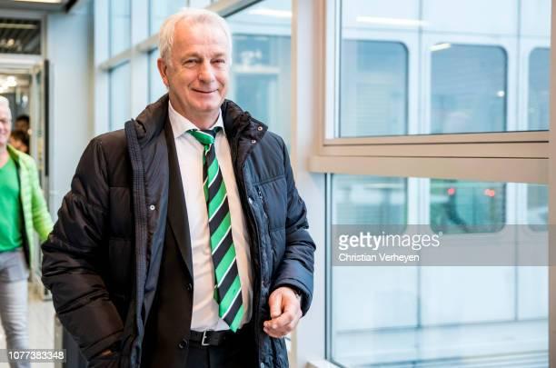 Vice President Rainer Bonhof departs to the Borussia Moenchengladbach Training Camp in Jerez on January 05 2019 in Duesseldorf Germany