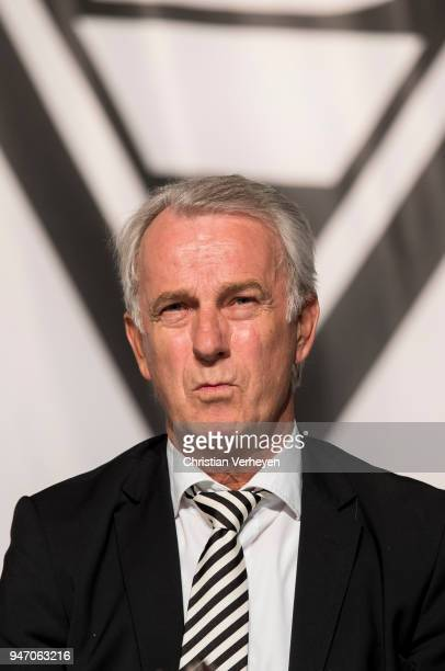Vice President Rainer Bonhof of Borussia Moenchengladbach during the Annual Meeting of Borussia Moenchengladbach at BorussiaPark on April 16 2018 in...
