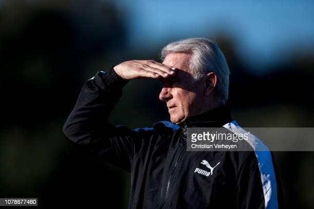Vice President Rainer Bonhof of Borussia Moenchengladbach is seen during a training session at Borussia Moenchengladbach Training Camp on January 07...