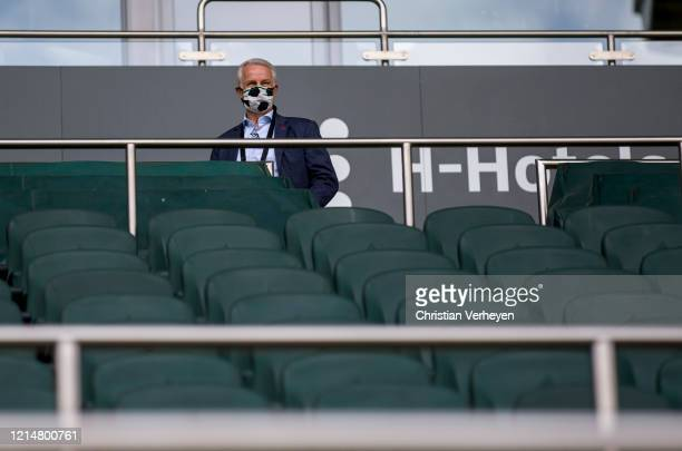 Vice President Rainer Bonhof of Borussia Moenchengladbach is seen before the Bundesliga match between Borussia Moenchengladbach and Bayer 04...