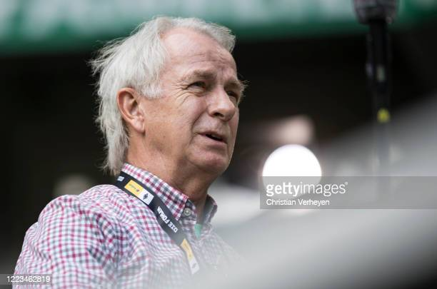 Vice President Rainer Bonhof of Borussia Moenchengladbach is seen ahead the Bundesliga match between Borussia Moenchengladbach and Hertha BSC at...