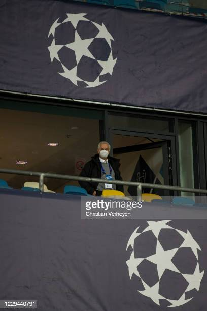 Vice President Rainer Bonhof of Borussia Moenchengladbach is seen before the Group B - UEFA Champions League match between Shakhtar Donetsk and...