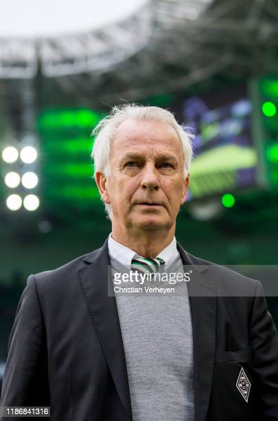 Vice President Rainer Bonhof of Borussia Moenchengladbach looks on before the Bundesliga match between Borussia Moenchengladbach and FC Bayern...