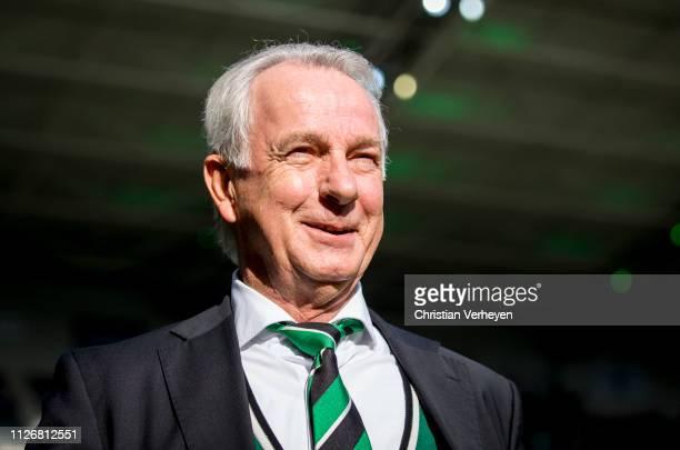 Vice President Rainer Bonhof of Borussia Moenchengladbach of Borussia Moenchengladbach is seen before the Bundesliga match between Borussia...