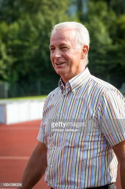 Vice President Rainer Bonhof of Borussia Moenchengladbach visit a Training Session at Borussia Moenchengladbach Training Camp at Stadion am...